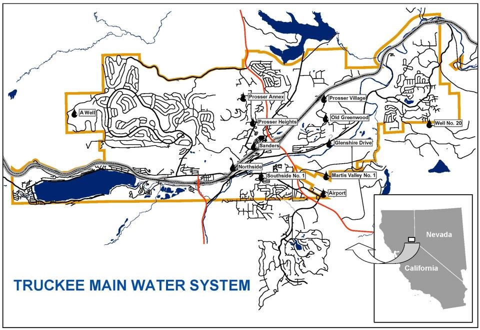 Truckee Main Water System Map